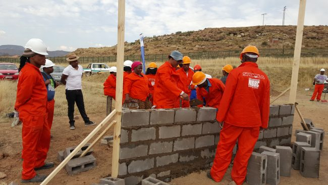 NHBRC Skills Programme on Bricklaying, Plastering and Capentry, Eastern Cape